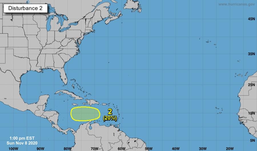 Nueva Onda tropical con rumbo a Centroamérica podría convertirse en huracán Theta