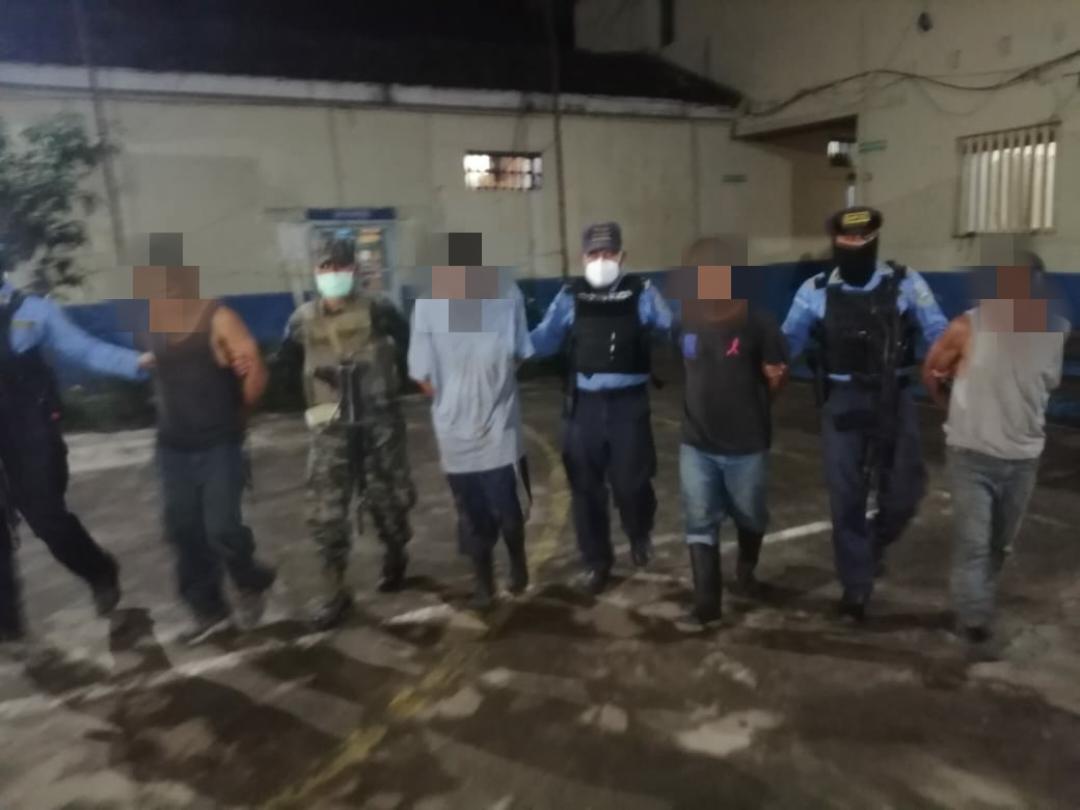 Capturan en Intibucá a miembros de una organización criminal con mas de 50 libras de marihuana