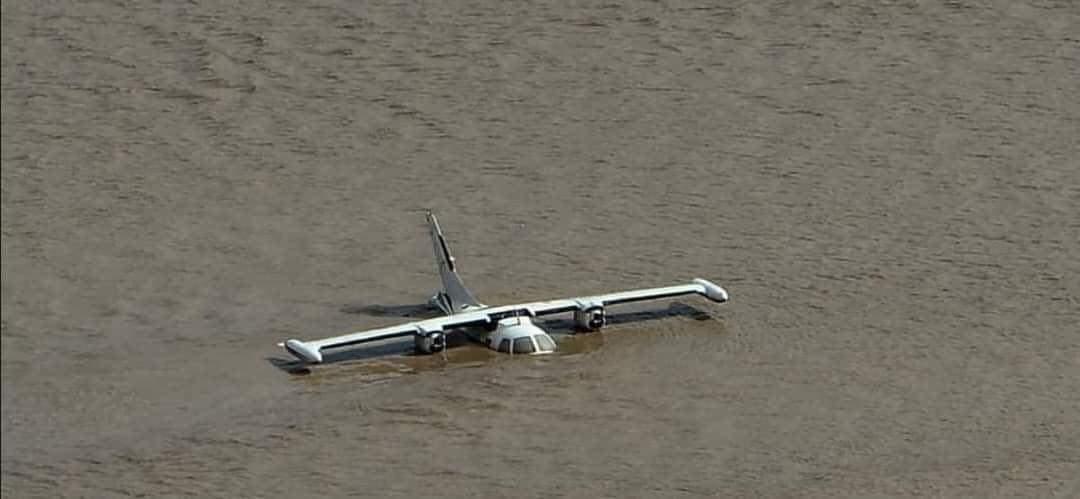 ¡Lamentable! aviones bajo el agua en el Aeropuerto Internacional Ramón Villeda Morales de SPS