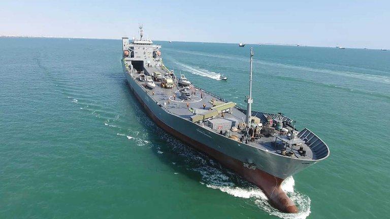 Guardia Revolucionaria de Irán añadió un enorme buque en medio de las tensiones con EEUU
