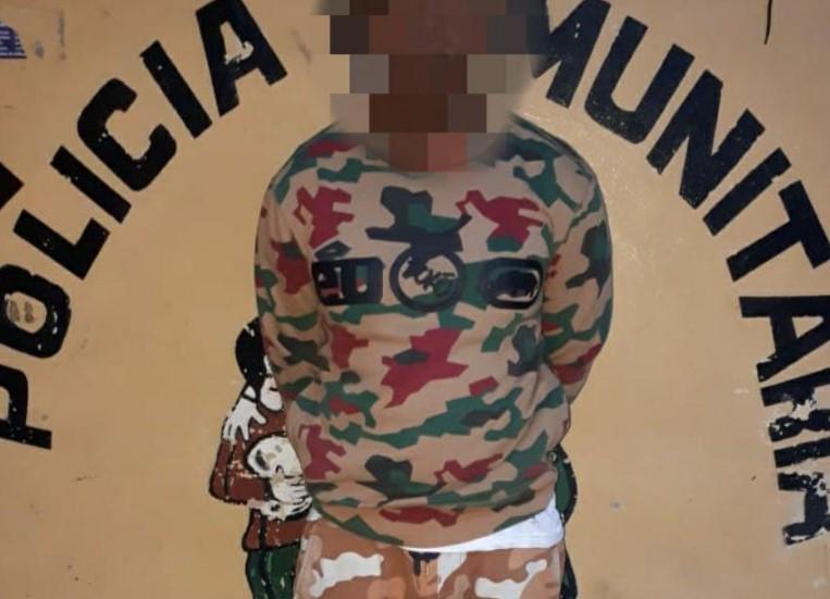 Detienen a ciudadano con droga y municiones en Cedros, Francisco Morazán