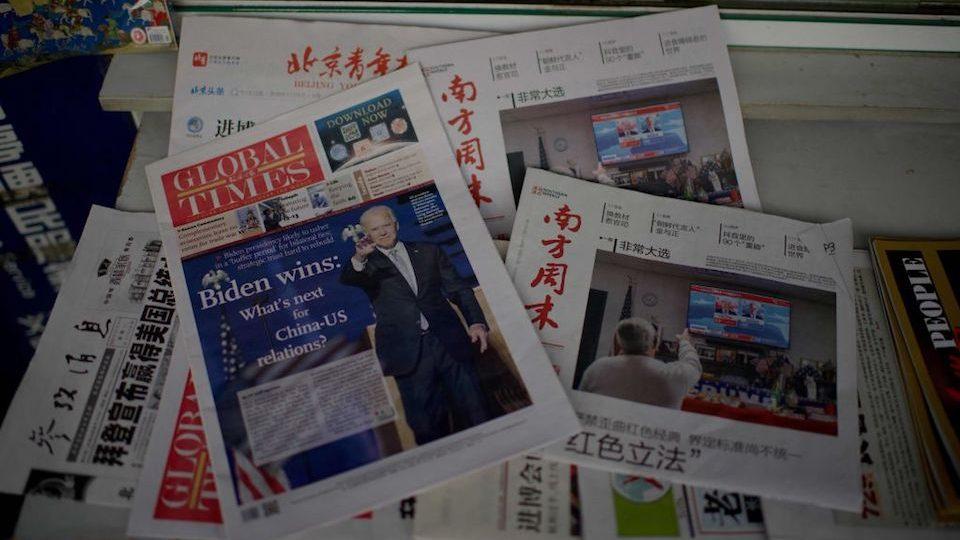 Joe Biden recibe felicitación tardía de China como presidente electo de los EEUU