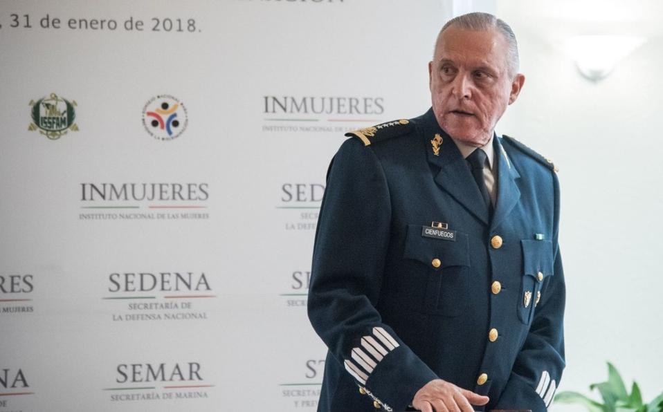 EE.UU. pedirá retirar cargos contra el general Cienfuegos