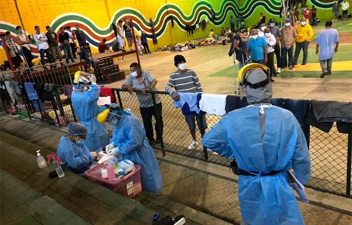 Autoridades del INP visitan albergues donde permanecen personas privadas de libertad evacuadas en El Progreso