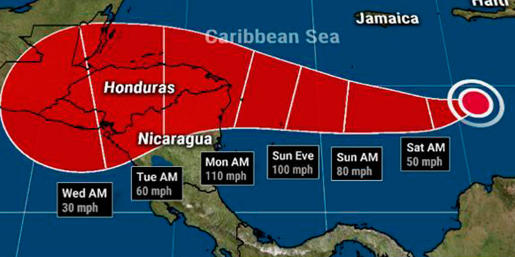 Depresión Tropical No. 31 se convierte en la Tormenta Tropical IOTA
