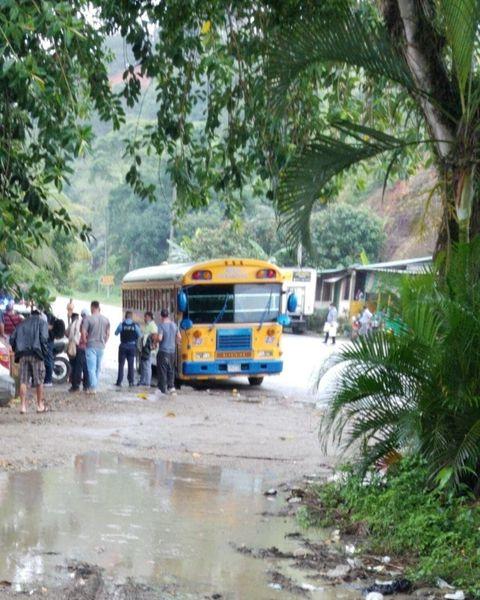 ¡Ladrones! Asesinan a un pasajero tras asaltar un bus interurbano a la altura de Lean, Atlántida