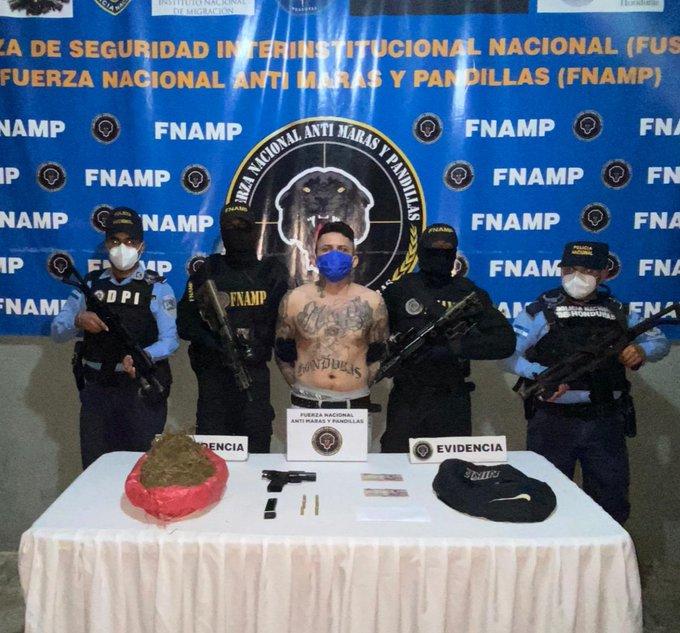 Capturan a presunto  cabecilla de la MS-13 en Cortés