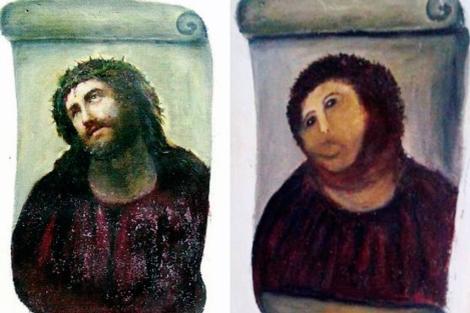 Se recuerdan del «Ecce Homo» restaurado