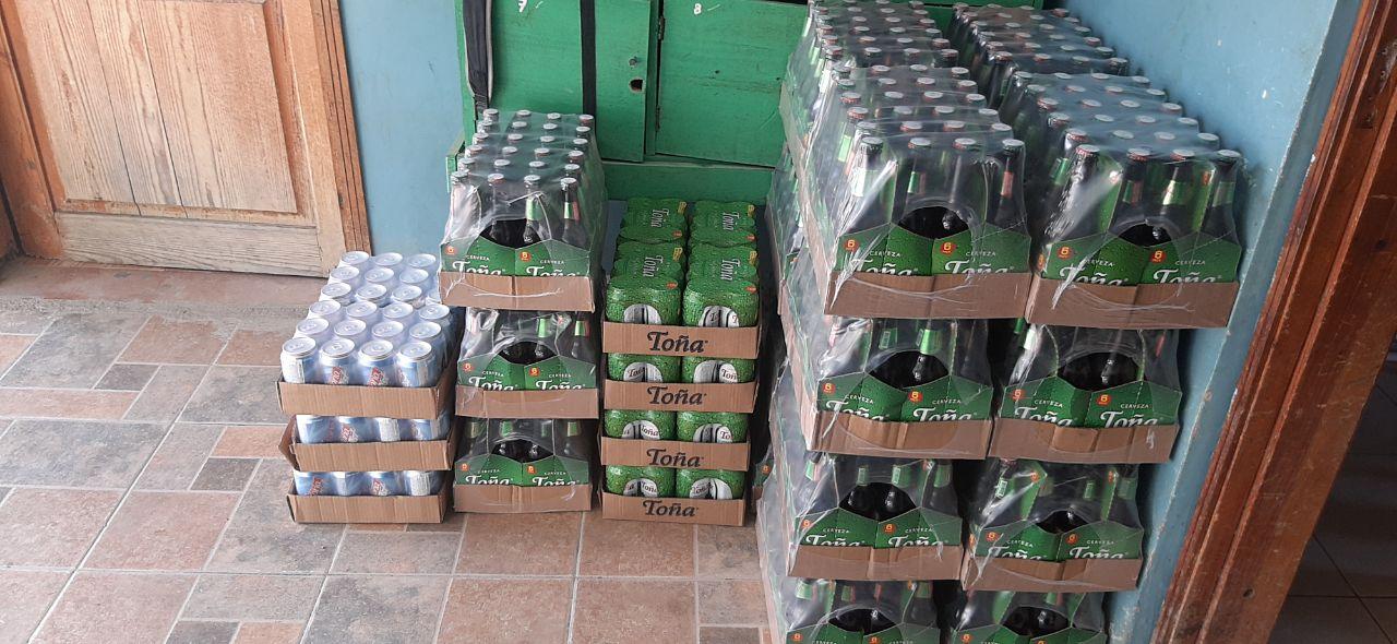 Decomisan bebidas alcohólicas en la zona oriental