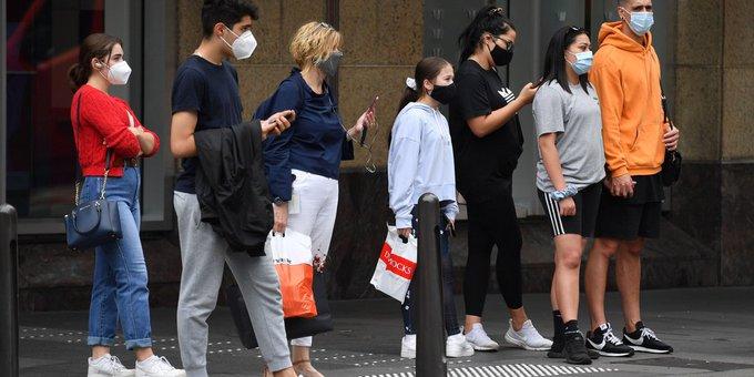 Sidney decretó el uso obligatorio de la mascarilla en lugares cerrados ante el aumento de casos de COVID-19