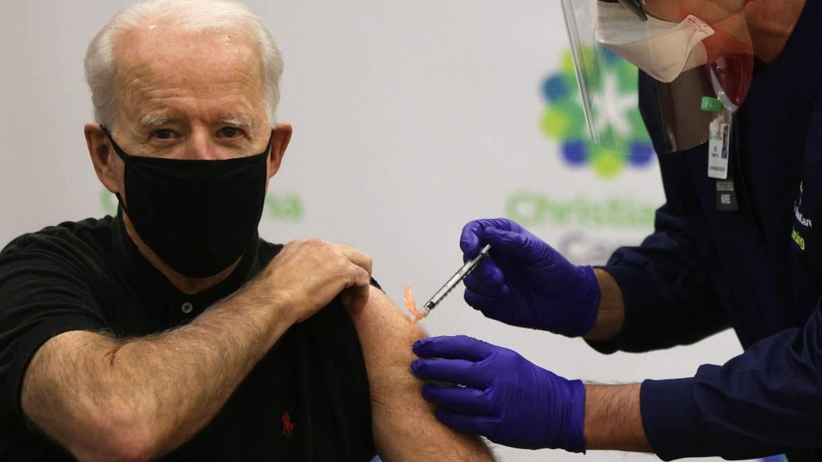 Joe Biden recibe la segunda dosis de vacuna de Pfizer