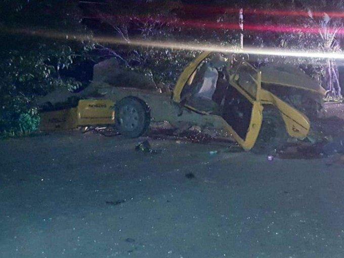 Tres miembros de una familia mueren en un fatal accidente de tránsito en  El Porvenir, Atlántida.