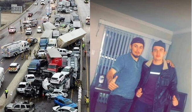 Dos hondureños entre las víctimas de colisión de 100 vehículos en Texas, EEUU