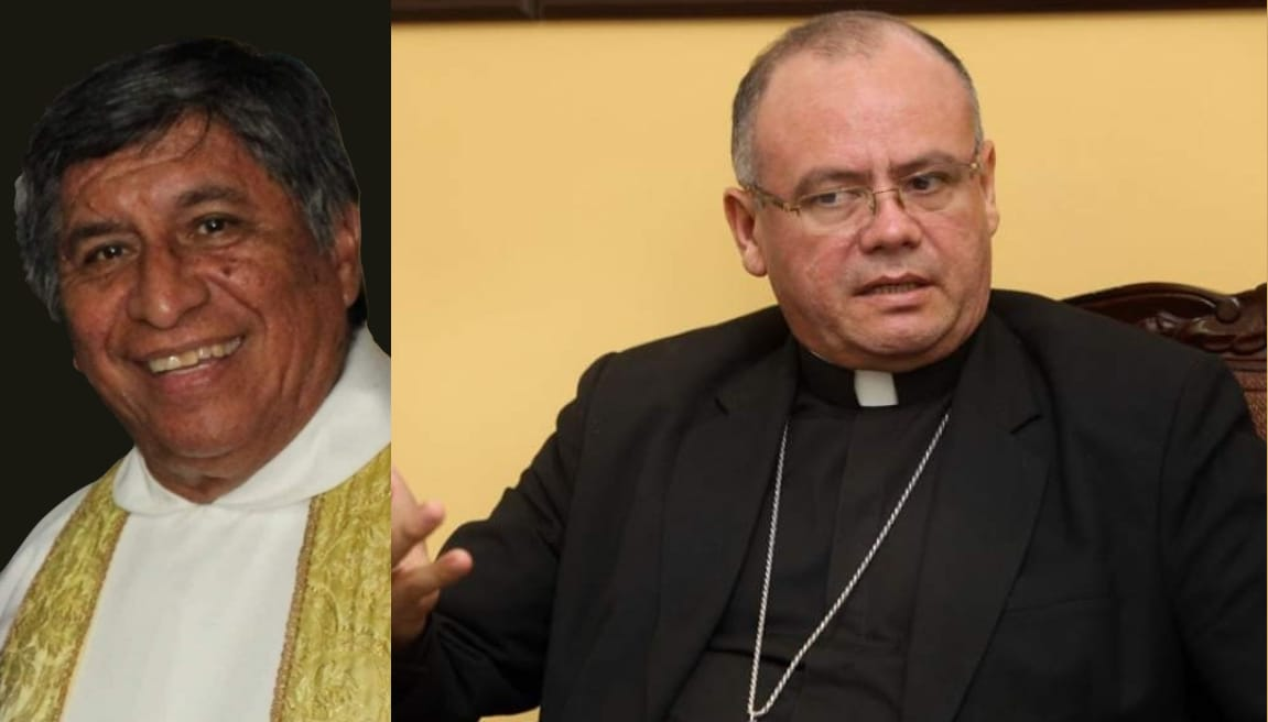 Obispo Darwin Andino lamenta la muerte por covid-19 del padre Rudi Mejía.