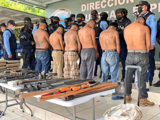 Dictan Detención Judicial a seis cabecillas de la MS-13 capturados en  supuesto campo de entrenamiento de sicarios.