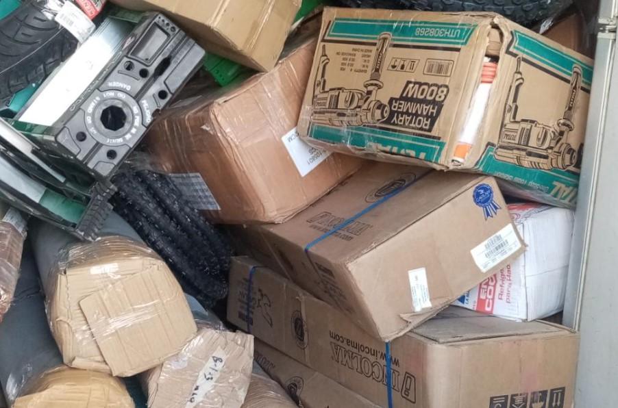 Detienen y recuperan camion con mercadería robada en Cortés valorada en mas de un millón de lempiras