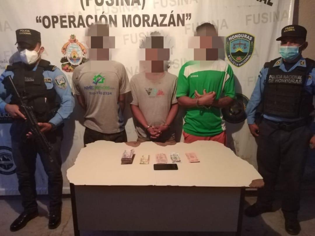 Por robo en contra de Asociación Cooperativista, capturan a sospechosos  y le decomisan dinero en efectivo producto de la comisión