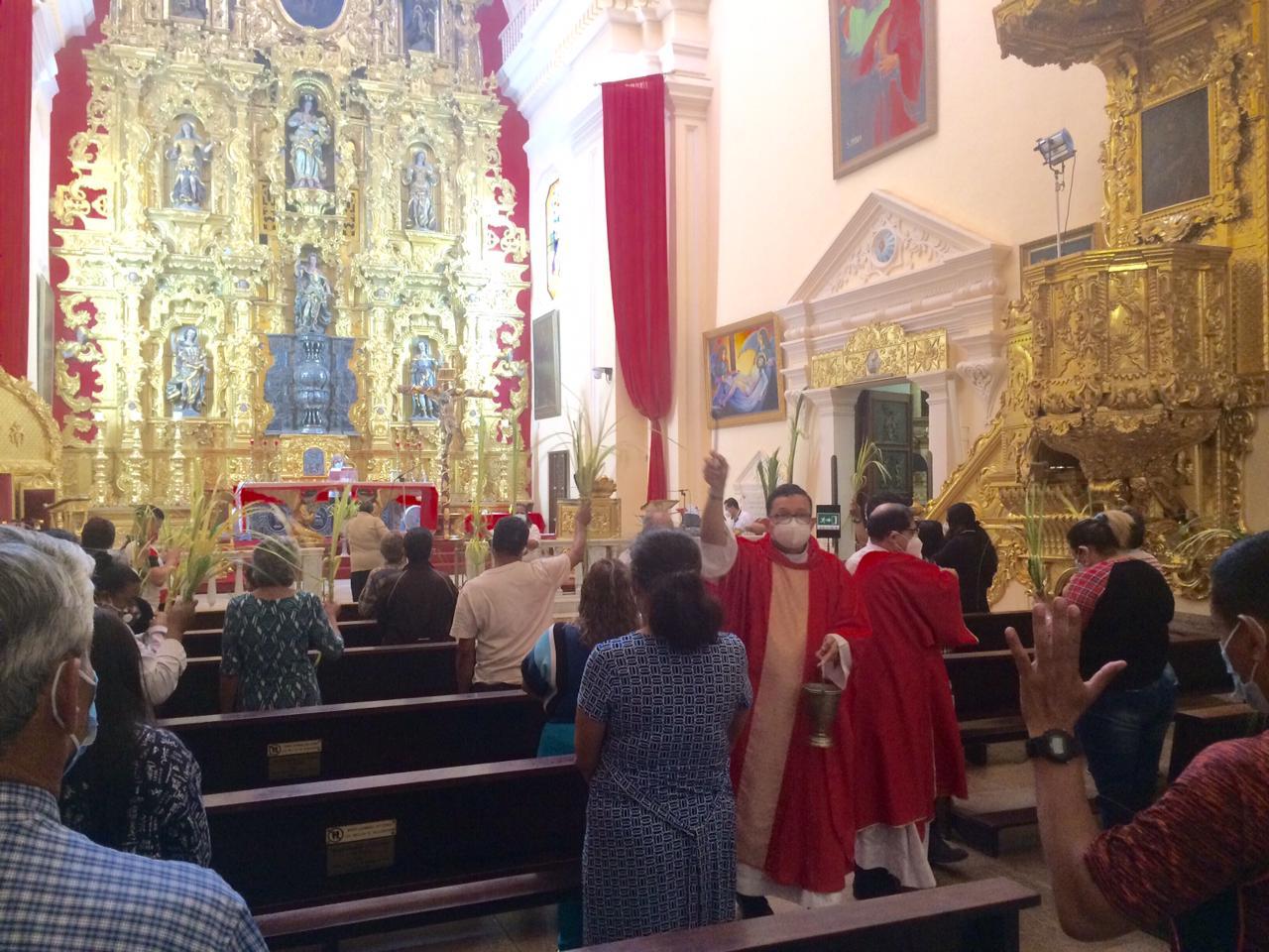 En Eucaristía de Domingo Ramos: Iglesia Católica exhorta a feligresía a vivir en mansedumbre como el Señor Jesús