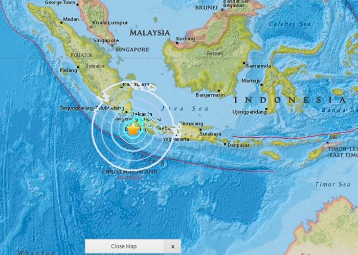Registran un sismo de 6,0 frente a las costas de la isla indonesia de Java
