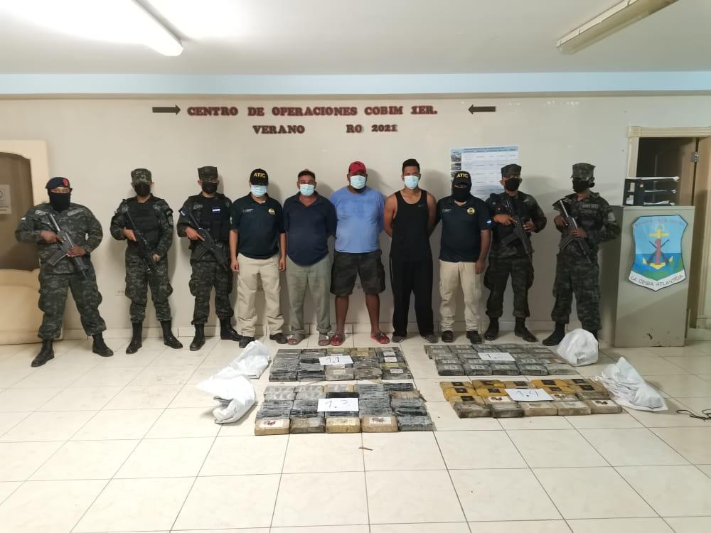 189 kilos de cocaína más fueron incautados en tres embarcaciones en el Caribe