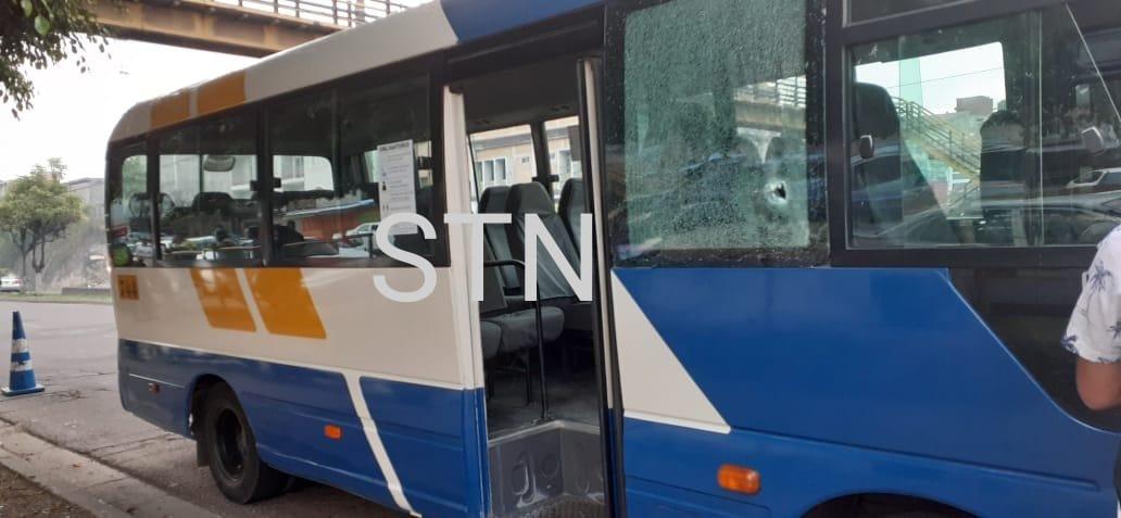 Tirotean un bus rapidito en la Colonia Centroamérica de la capital