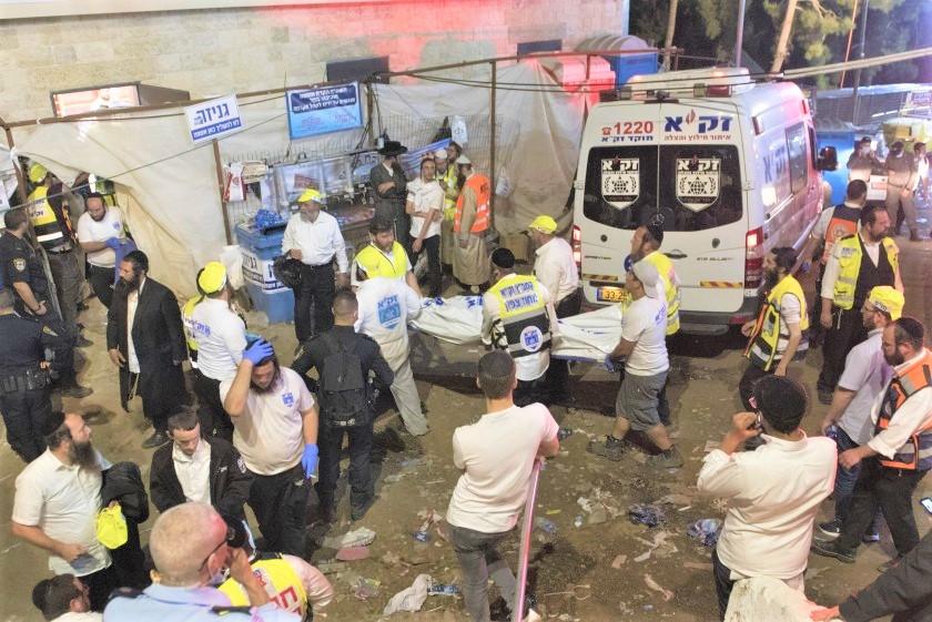 Estampida religiosa deja decenas de muertos y heridos en Israel