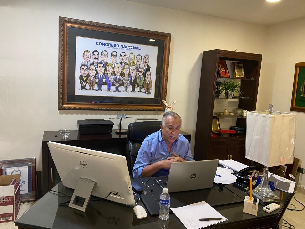 Congreso Nacional convoca a reunión virtual para el próximo jueves