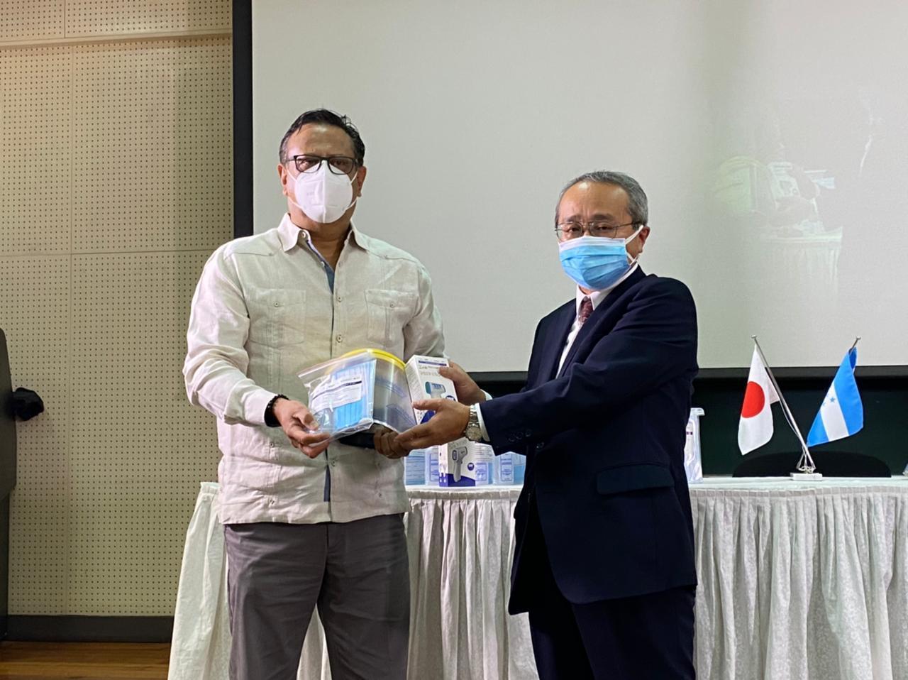 Japón y BID donan insumos de bioseguridad que beneficiará a institutos técnicos de Cortés y Francisco Morazán