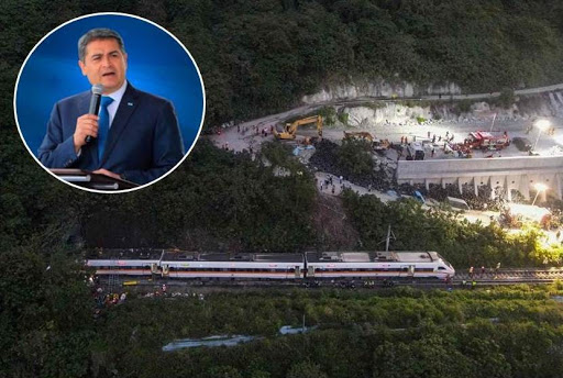 Presidente Hernández se solidariza  con Taiwan por accidente ferroviario