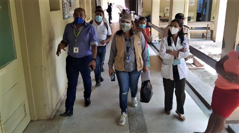 FONAC realiza inspección en el hospital San Francisco de Juticalpa, Olancho