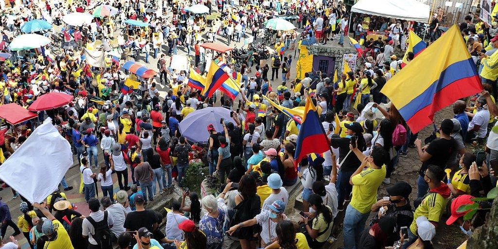 Comité de Paro entregó propuesta al gobierno colombiano para la desmilitarizar las protestas