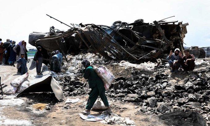 Al menos 7 muertos y 14 heridos al incendiarse decenas de vehículos en Kabul