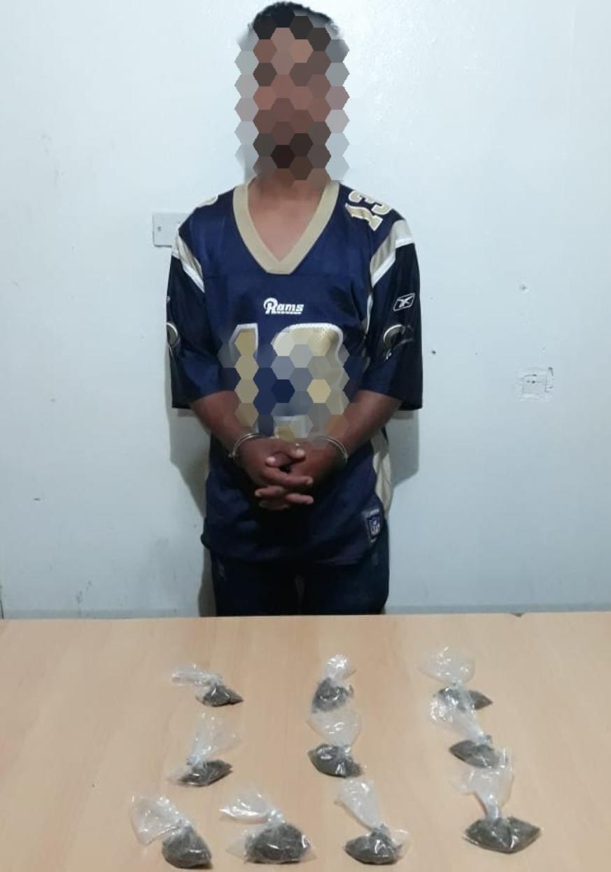 Supuesto miembro activo de la MS-13 fue capturado en posesión de droga en El Paraíso