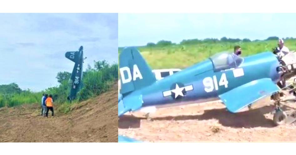 Durante reparación de Bordos de SPS encuentra avioneta arrastrada por Eta e Iota