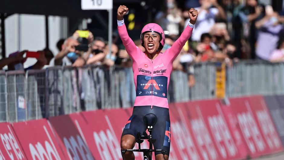 Colombiano Egan Bernal se coronó campeón del Giro de Italia