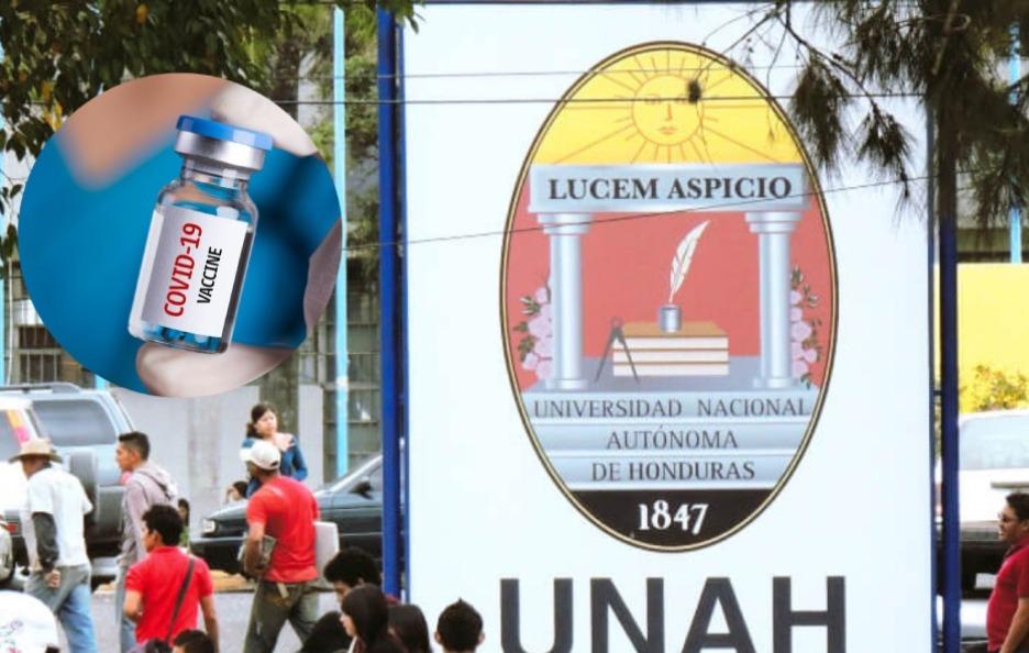 La UNAH gestiona 100 mil vacunas  para inocular a personal docente, administrativo y estudiantil.
